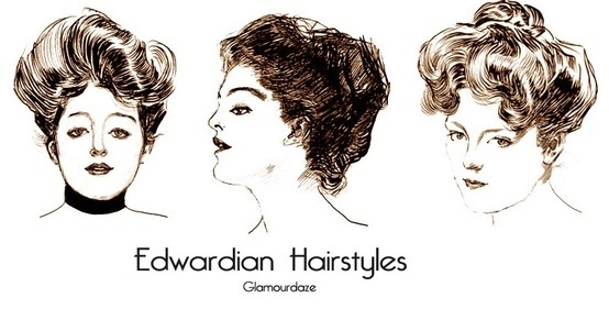 Key features of hair during the Edwardian times for hair where :